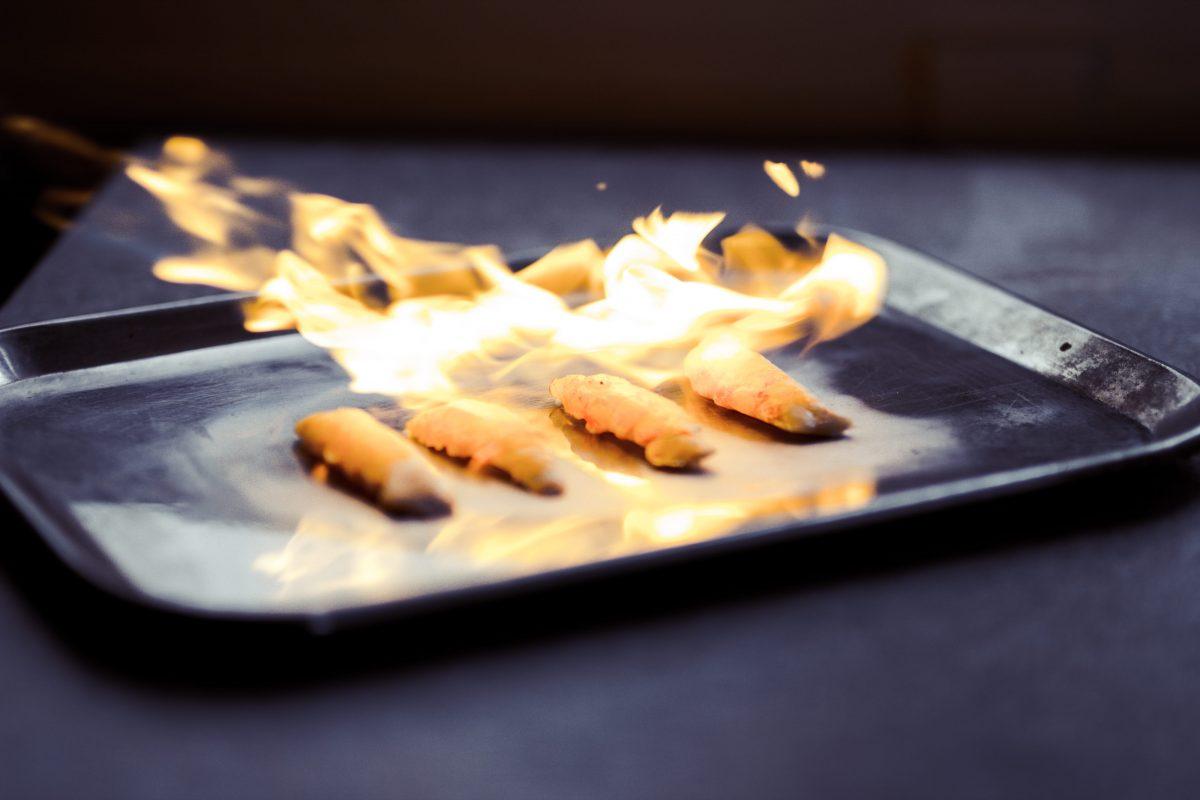 sous vide koken afbranden