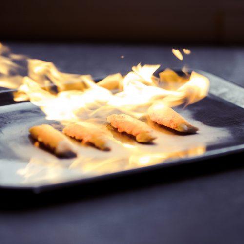 langoustine afbranden